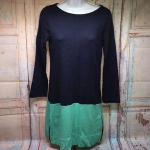 J CREW Long Sleeve Dress w/Side zippers on bottom